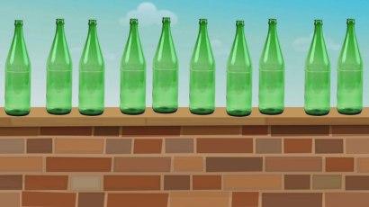 12 green bottles