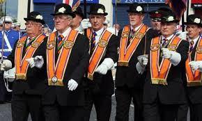 orange men bowler hats